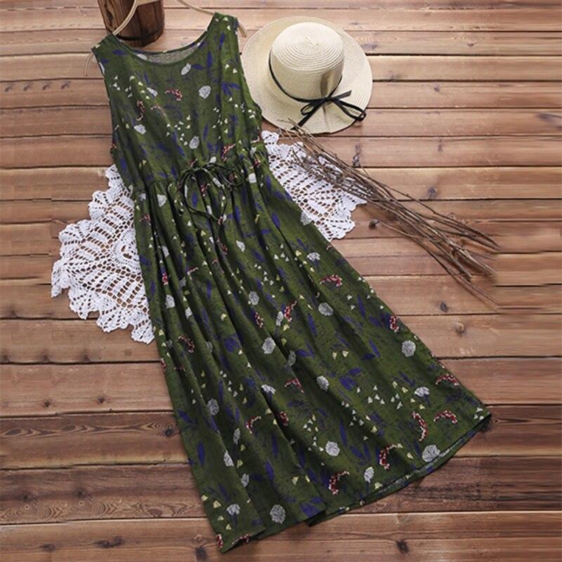 2019 lossky nova l2 maxi praia vestido sexy sem mangas vintage impressão vestidos de verão