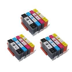 XIMO 12 Cartuchos De Tinta Para HP 364XL Deskjet 3070A 3520 Officejet 4610 4620 4622 etc.