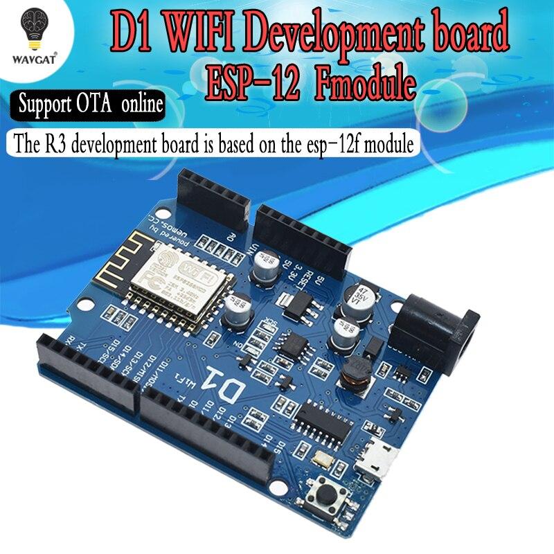 WAVGAT Smart Electronics ESP-12E WAVGAT D1 WiFi uno based ESP8266 shield for arduino Compatible