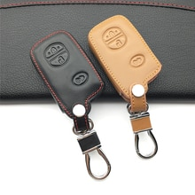 For Toyota Aqua Camry Corolla RAV4 Yaris Venza 4 Runner Cruiser PRADO Vitz REIZ Prius Crown New 100% Leather Car Key Case Cover