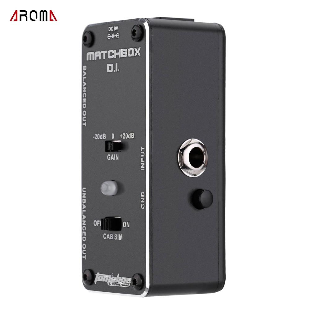 Nova chegada! Aroma AMX-3 matchbox d.i. Mini efeito analógico pedal de transferência guitarra ou sinal de baixo para o sistema de áudio