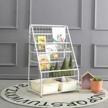 Childrens Toy Storage Rack Kindergarten Storage Cabinet Organizer Sorting Rack Baby Simple Iron Bookshelf