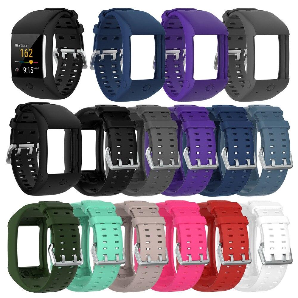 MASiKEN Silicone Sports Bracelet Wristband Strap for Polar M600 GPS Smart Sport Watch Band Strap Belt