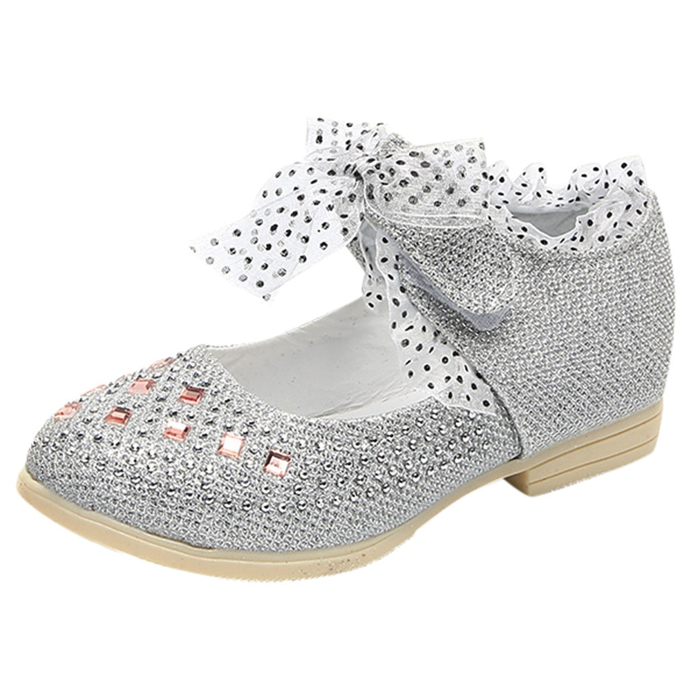 Toddler Baby Girls Sneaker Dot Sole Kids Children Princess Lace Sequins Shoes sapato infantil baby slofjes C3