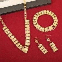 Date pas cher bijoux en or filles Dubai ensemble de bijoux en or turc égyptien algérie indien marocain bijoux en or saoudien