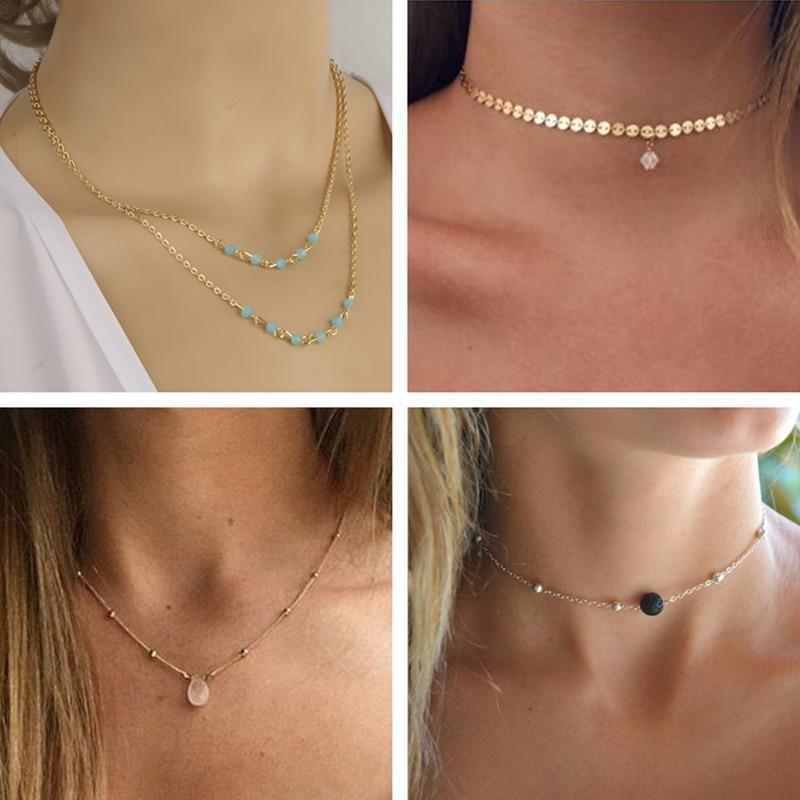 Collares de cadena con colgantes de corazón de perla simulada de mano de Hamsa infinita multicapa Seblasy Bohemia para regalos de cumpleaños de mujer