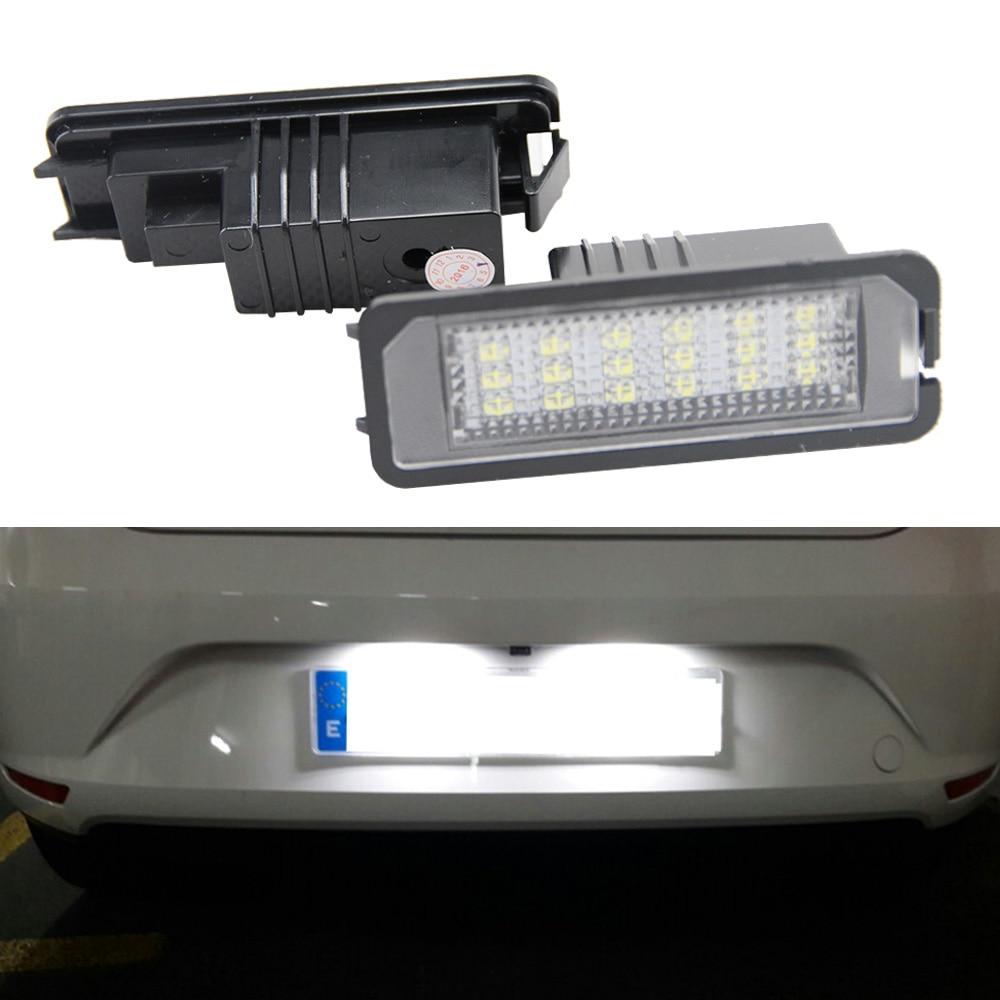 2X18SMD luz LED de matrícula para VW Golf 6 VI 5 V...