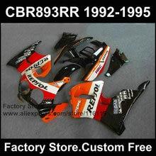 Jeu de caronnages de moto ABS personnalisés   Pour HONDA CBR900RR 1992 1993 1994 CBR 893RR 92 93 94 95 CBR 1995