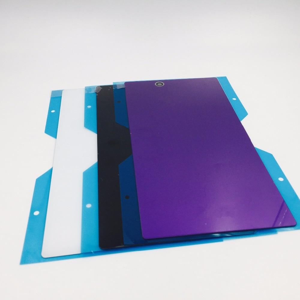 RTBESTOYZ Glas Gehäuse Für SONY Xperia Z Ultra XL39H Zurück Batterie Abdeckung Tür mit Klebstoff Ersatz C6802 C6806 C6833 Teile