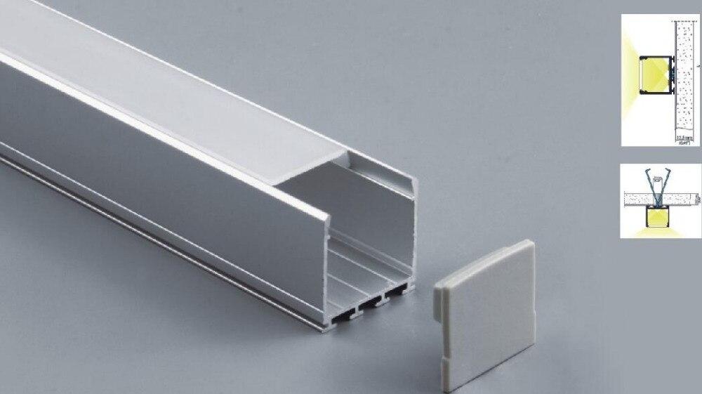Бесплатная доставка 2 м/шт. 50 м/лот led линейный свет корпус с u-образной формы матовое диффузионное покрытие и алюминиевый профиль