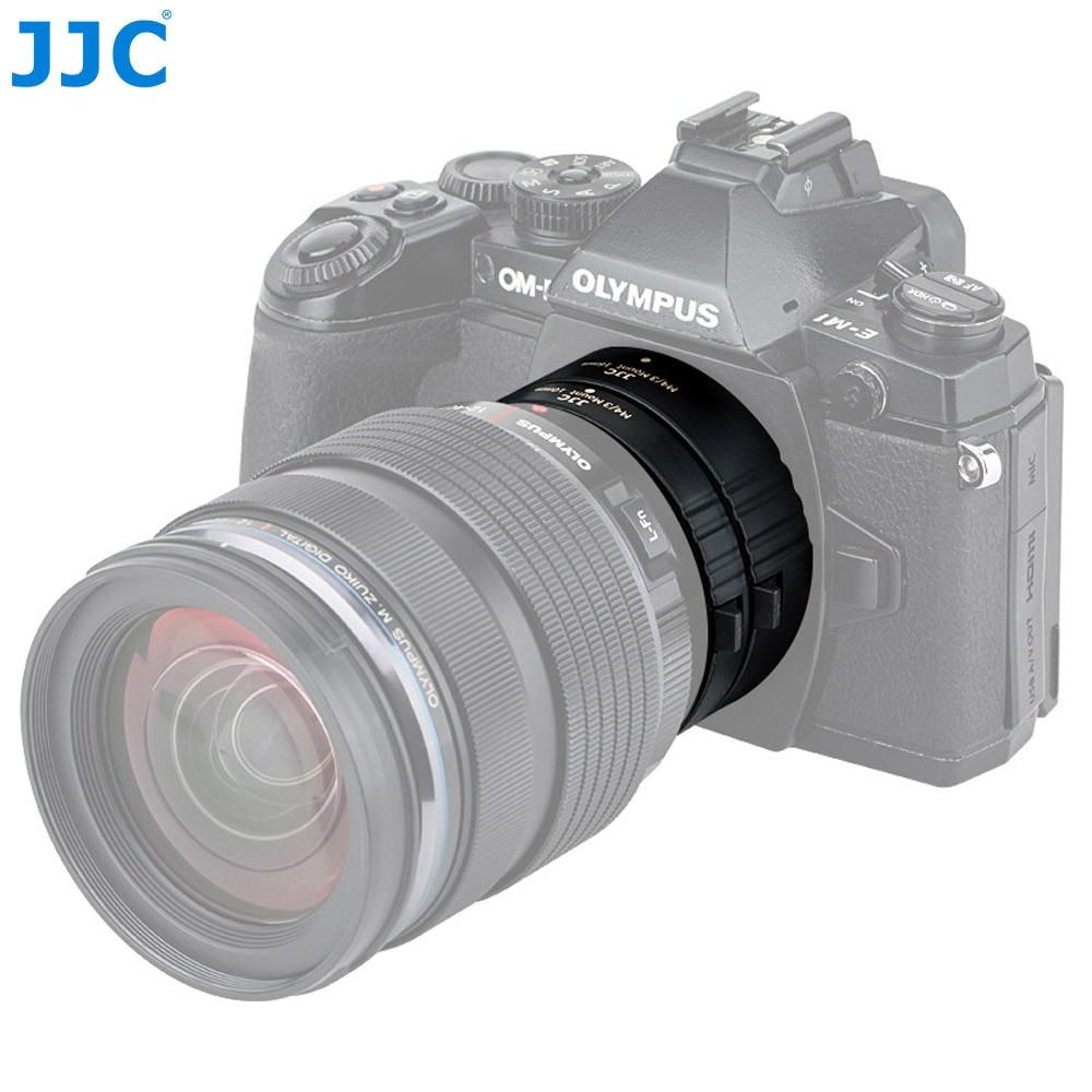 JJC AET-M43S (II) 10 مللي متر/16 مللي متر التلقائي تمديد أنبوب لأوليمبوس/باناسونيك M4/3 جبل مع كاميرا كاب الجسم /الخلفية غطاء العدسة