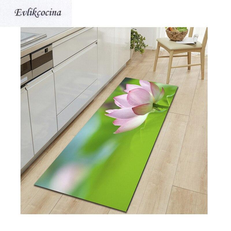 Tapete para puerta de baño con absorción de agua, Lotus Banyo rosa, envío gratis