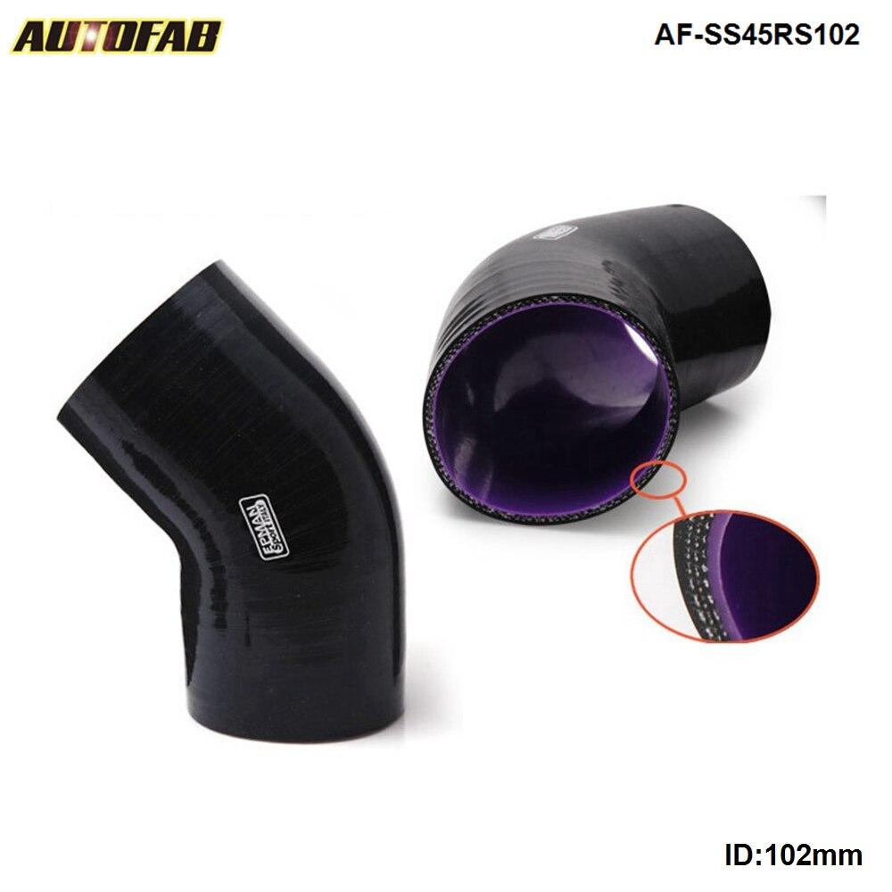 "3-PLY 4,0 ""de alto rendimiento negro 45 grado acoplador para manguera de silicona 102MM para Honda CRX B16A 89-92 AF-SS45RS102"