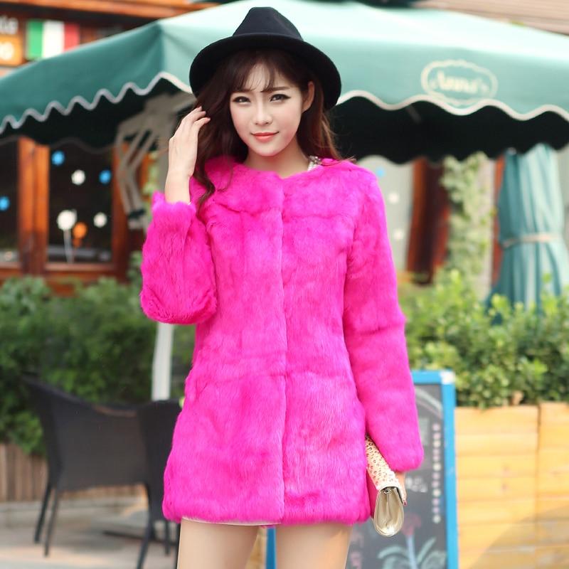 Real Fur real rabbit 2021 Rabbit fur coat  Fur Coat. Korean Slim Fashion Fashion Rabbit Whole Skin Fur Coat фото