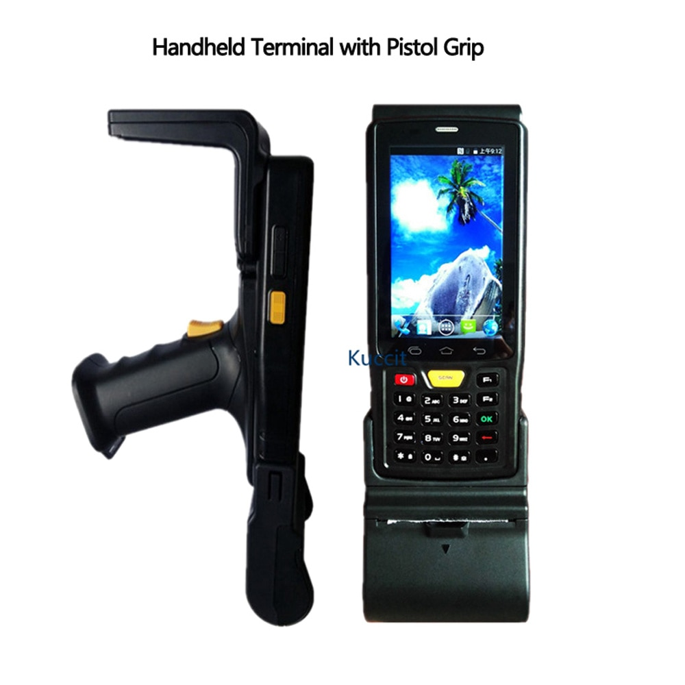 Original 1D 2D Escáner DE CÓDIGO DE Barras láser PDA android Rfid UHF lector Terminal portátil con teclado pistola 4G 8800mAH
