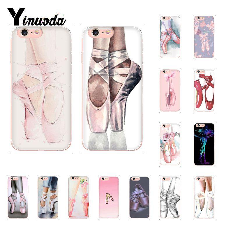Yinuoda балетные балетки чехол мягкий чехол для телефона iPhone X XS MAX 6 6S 7 7plus 8 8Plus 5 5S XR 10 Чехол