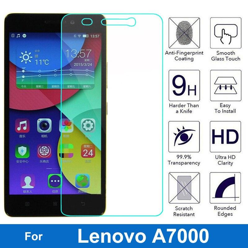 Para Lenovo A7000 Protector de pantalla de vidrio templado 9H de película...