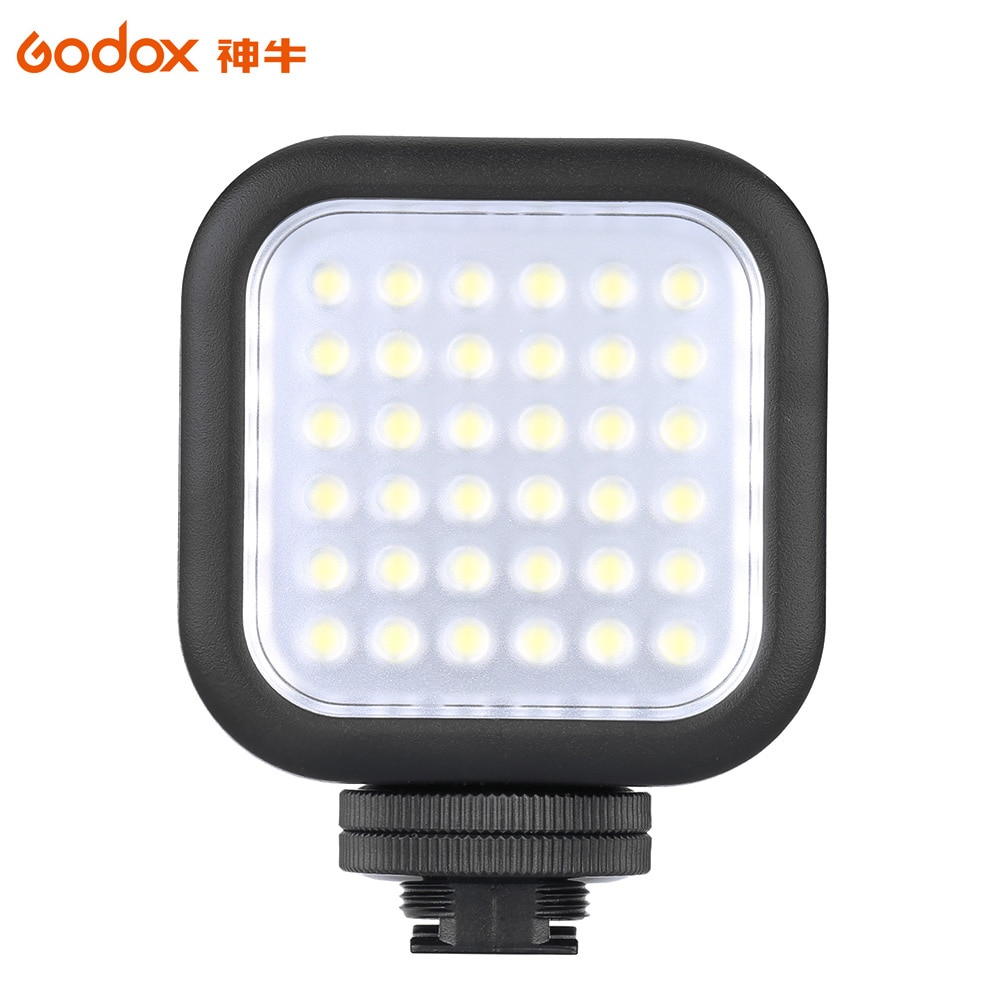 Godox LED36 Светодиодная лампа для видеосъемки 36 светодиодных ламп фотографическое Освещение 5500 ~ 6500K для цифровой зеркальной фотокамеры видеокамеры мини DVR