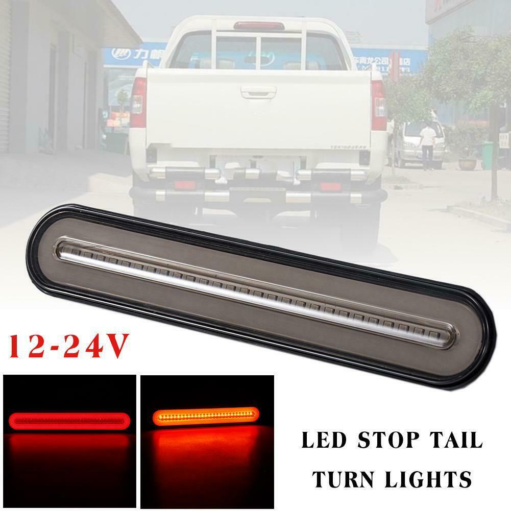 Luz de giro LED de 12-24V Universal, luz de giro trasera Halo de neón LED para remolque, caravana, camión, señal de giro variable, luces traseras de freno 1 unidad