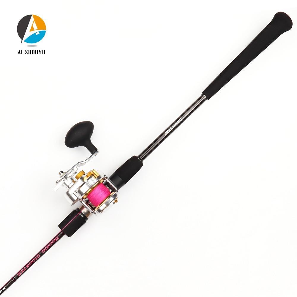 2021 New Slow Pitch Jigging Rod 1.98m Japan Fuji Parts 2 Section Casting Rod Boat Rod Ocean Fishing Rod enlarge