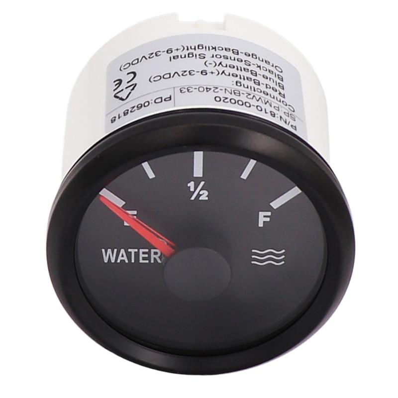 Medidor de nivel de tanque de agua Digital de 0-190 ohm, indicador de nivel de líquido para bote de coche de 240 ohm- 33 ohm 12V 24V
