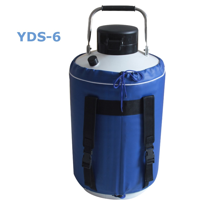 High Quality 6L Liquid nitrogen container Cryogenic Tank dewar liquid nitrogen container with Liquid Nitrogen tank
