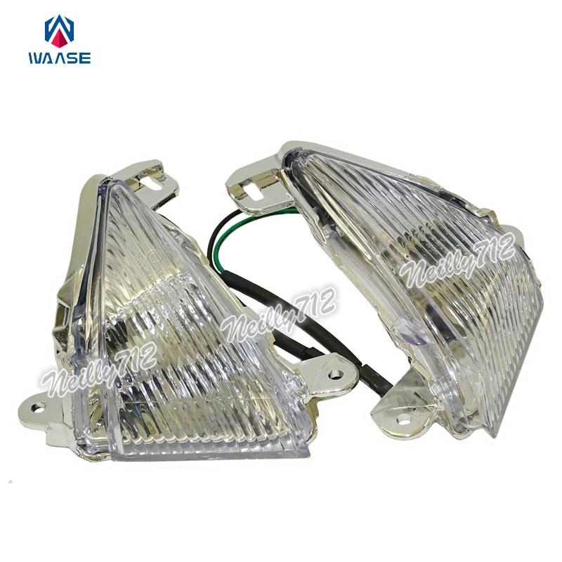 Waase EMARK передние поворотные сигналы мигалка Индикатор объектива для Kawasaki Ninja ZX14 ZX14R ZZR1400 2006 2007 2008 2009 2010 2011-2016
