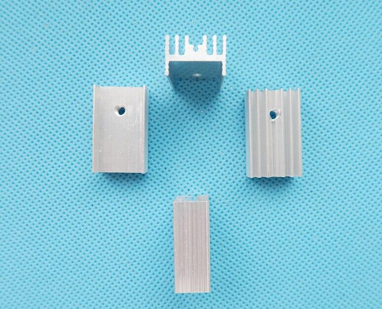 10 шт. 21x15x10 мм радиатор охлаждения плавник алюминиевый радиатор для TO3 TO-3 транзистора 21*15*10 мм