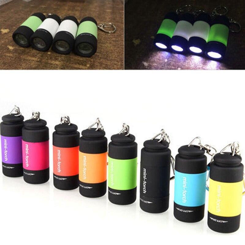 Funda original recargable para linterna, linterna Mini colorida resistente al agua, llavero con luces LED brillantes USB, luz de engranajes para exteriores