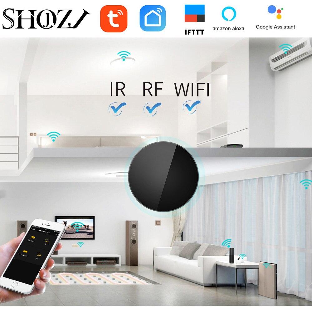Inteligente para Caixa de tv Google Casa Tuya Voz Contro ir rf 433mhz 315 Universal Controle Remoto Ventilador Interruptor ar Garagem Dooya wi fi