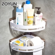 Bathroom Shower Corner Organizer Toilet No Trace Storage Holder Accessories Suction No Screws Wall-mounted Floating Wall Shelf