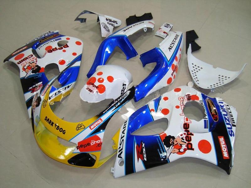 7 para Suzuki GSX-R600 96 97 GSX R600 96-00 gsxr 600 98 99 00 GSXR600 96 1996 1997 1998 1999 2000 carenado perro oscuro