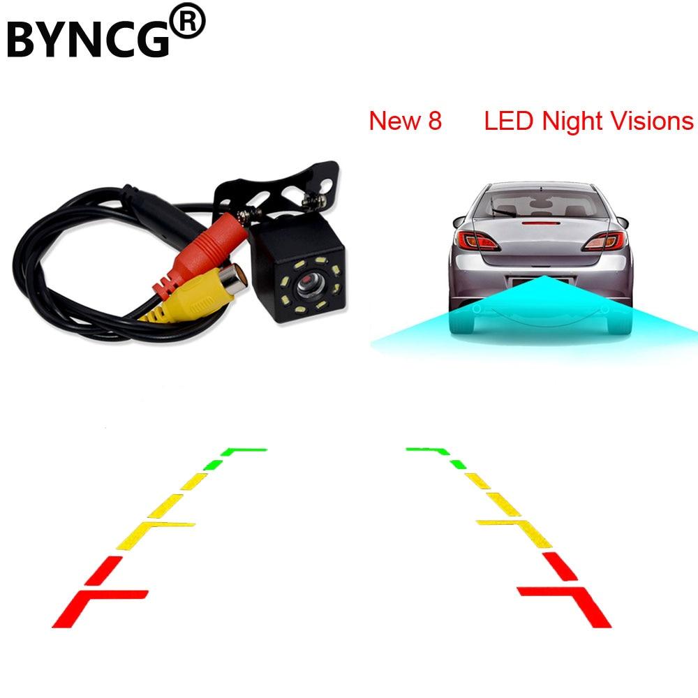 Auto Rückansicht Kamera Universal Backup Parkplatz Kamera 8 LED Nachtsicht Wasserdichte 170 Weitwinkel HD Farbe Bild