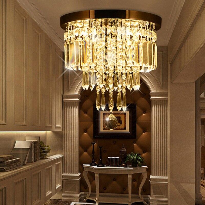 lustre de cristal italiano para teto luminaria de teto em forma redonda para sala