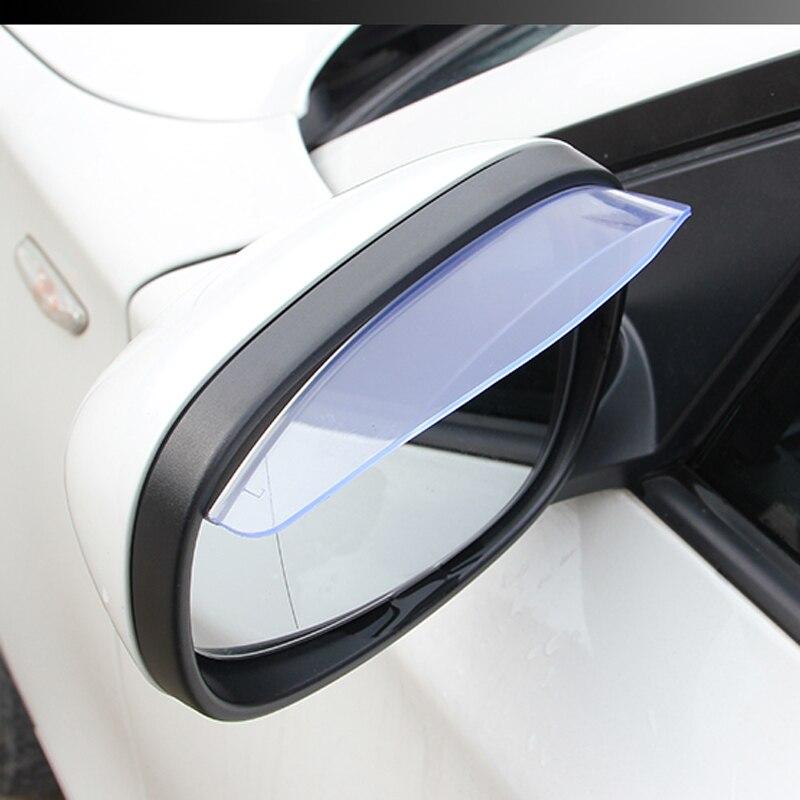 2 Pcs Espelho Retrovisor Do Carro Chuva Sobrancelha Escudo Chuva Sombra capa para Porsche Cayenne Cayman Panamera Macan Macan S Carrera Porsch