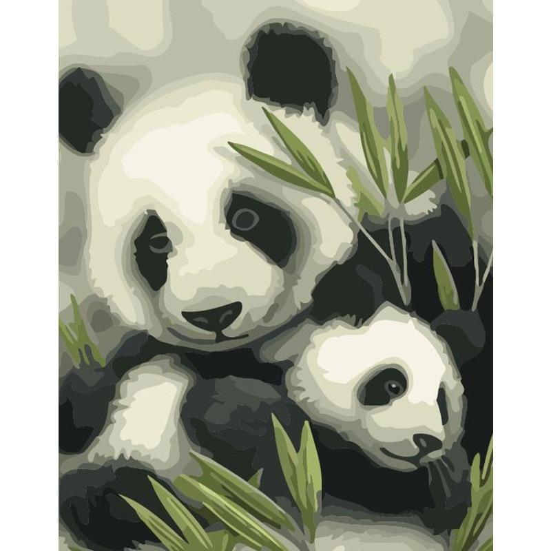 Pintura para colorear DIY de Baby Panda con números, bonita pintura con números, regalo sorpresa, suministros de arte, triangulación de envíos