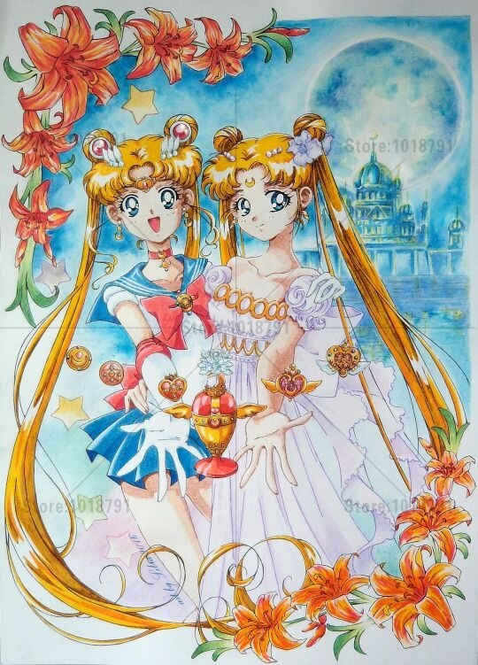 5D pintura de diamantes Diy punto de cruz bonito soldado Sailor Luna de diamantes mosaico imágenes Panthers bordado de diamantes