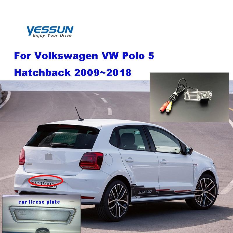 Yessun Автомобильная камера заднего вида для Volkswagen Polo 5 Хэтчбек 2009 ~ 2018 HD CCD камера заднего вида ночного видения