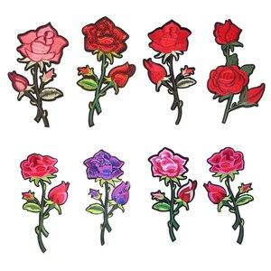 Букет роз Патч наклейка Утюг на одежда передачи тепла аппликация вышитые аппликации накладки ткань с блестками; Одежда