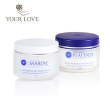 JYP crème de jour au collagène marin + crème de nuit au Placenta de mouton rajeunissante ensemble de soins du corps visage crème hydratante tactile de haute qualité
