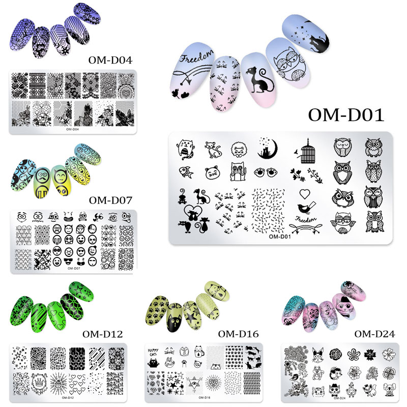 1Pc Nail Stamping Plates Lace Flower Animal Geometry Pattern Nail Art Stamp Stamping Template Image Plate Stencil Manicure Tools недорого