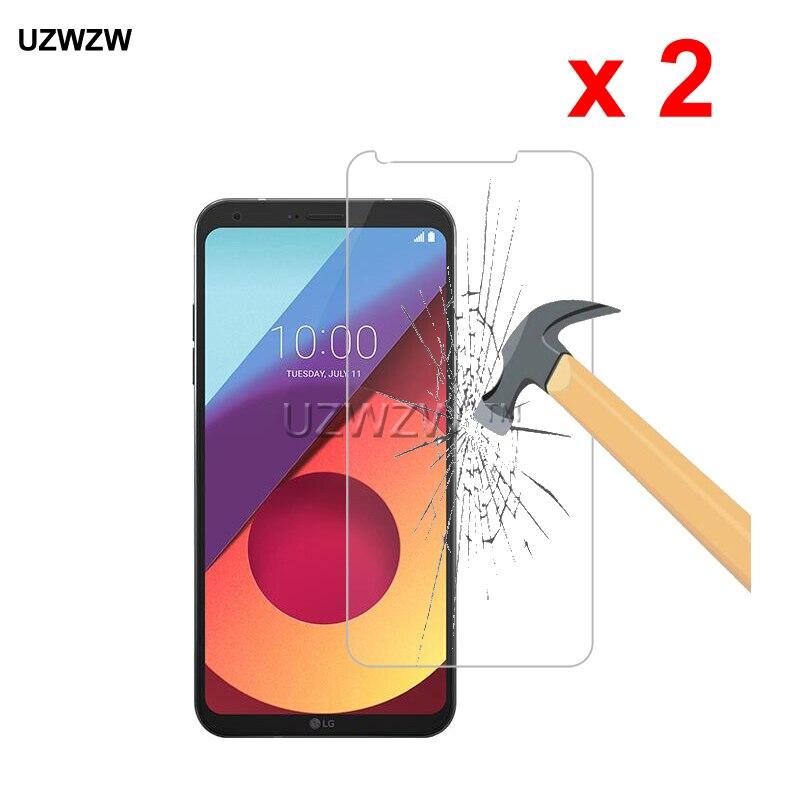 2 uds para LG Q6 M700A 5,5 pulgadas 2.5D dureza 9H vidrio Protector de vidrio templado Protector de pantalla de película para LG Q6 de vidrio