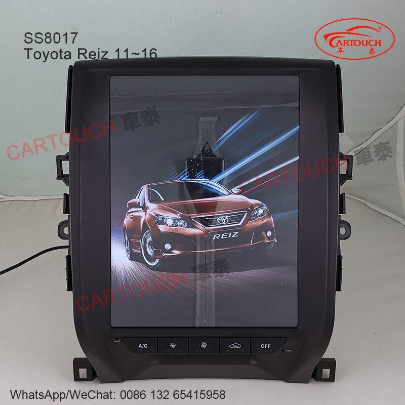 12,1 pulgadas de pantalla Vertical estilo Tesla Android GPS para coche reproductor Multimedia para Toyota Reiz Mark X 10 ~ 16 coche Radio RDS GPS Bluetooth
