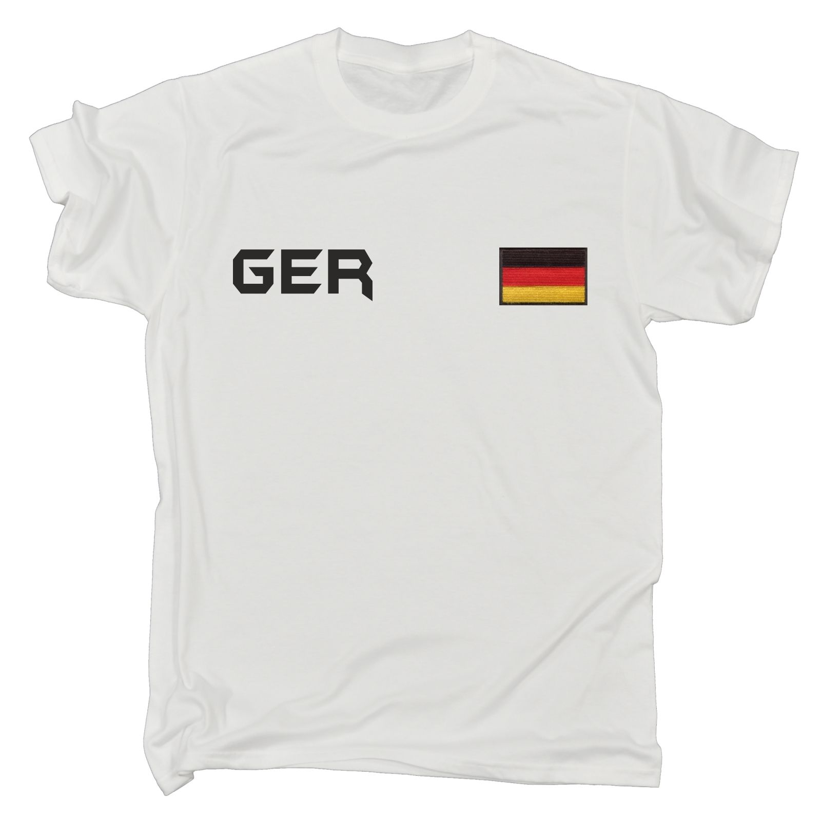 ¡Novedad de 2019! Camisetas a la moda de alta calidad para hombres, camiseta con bandera de Alemania, Camiseta deportiva alemana de fútbol Soccers, regalo de cumpleaños