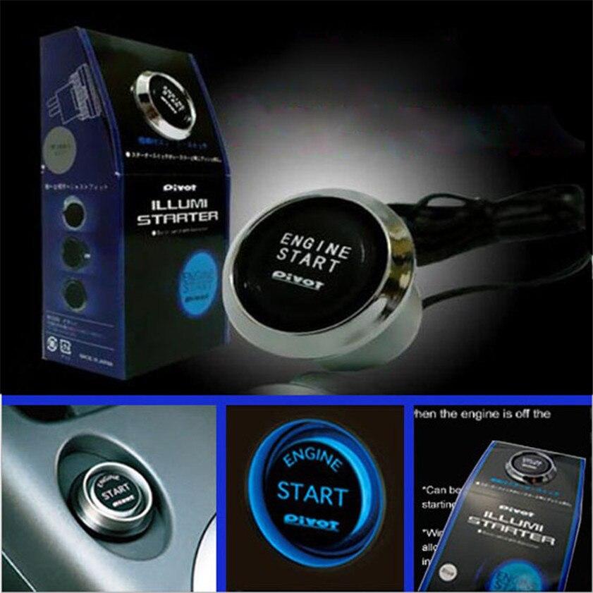 Kit de arranque de botón de arranque de motor de coche de 12V de alta calidad LED azul