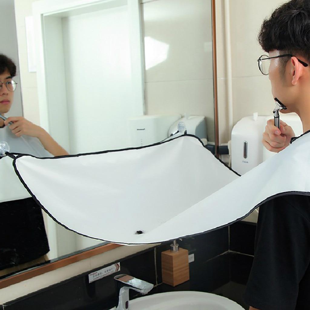 Передник для бритья, однотонный, для мужчин, для ванной комнаты, бороды, фартук с отделкой, передник для бритья, инструменты для укладки, инструмент для домашнего салона #