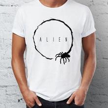 Męska koszulka Alien Facehugger Mashup z przylotem Movie Villain Badass Tee