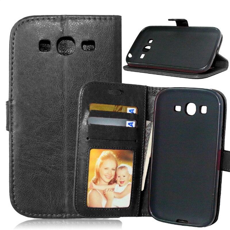 Para Samsung Galaxy Grand Duos i9082 9082 ranura para tarjeta de cuero cartera Flip Funda para Samsung Galaxy Grand Neo Plus I9060 cubierta Capa