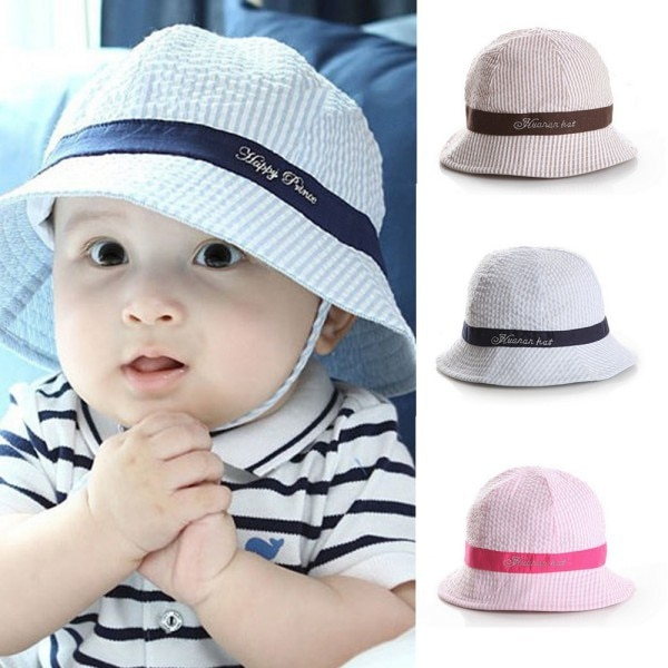 Newest 6-24Months Fashion Hot Toddler Baby Girl Boys Hat Infant Sun Cap Beach Bucket Hats Cute