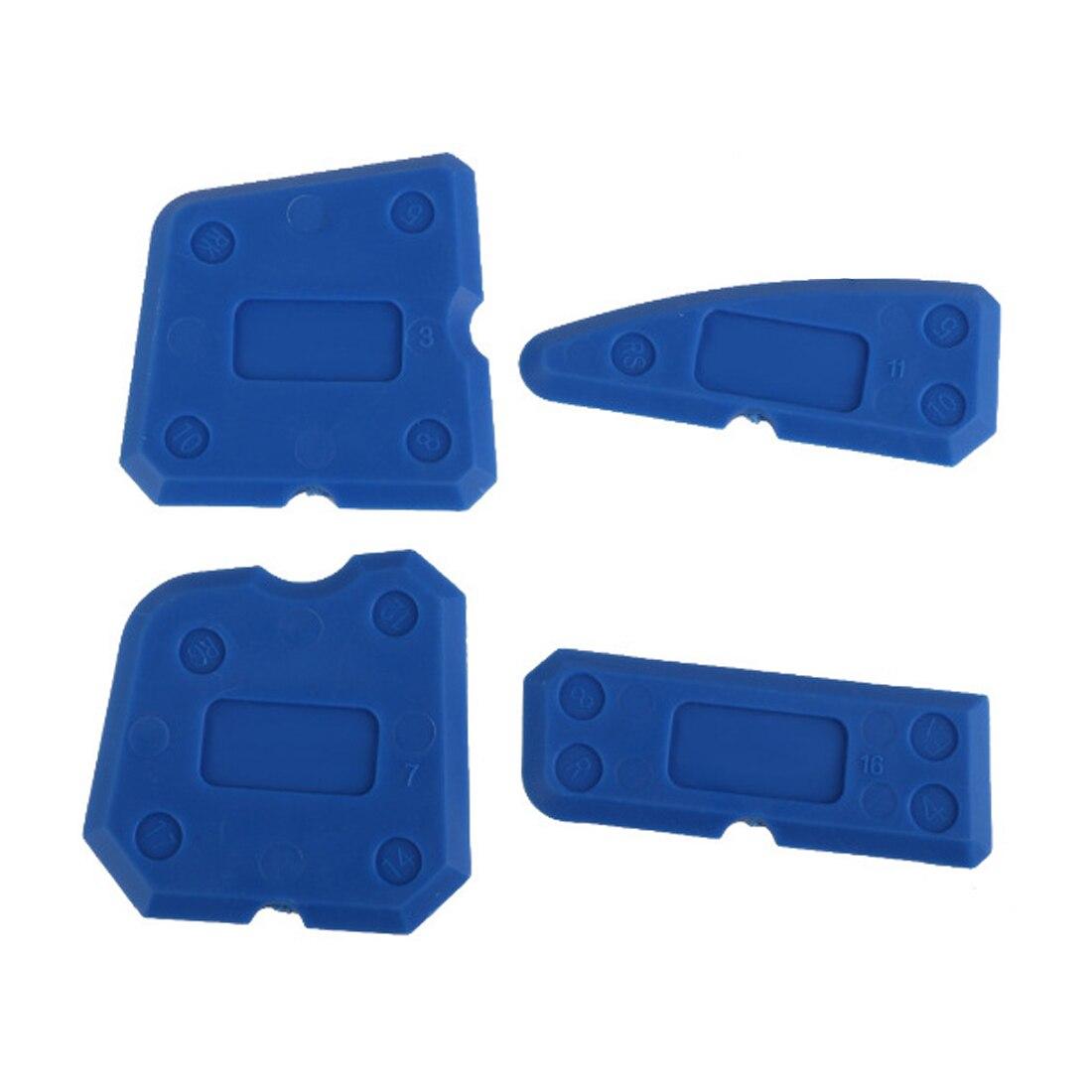 Hot Caulking Tool Kit 4pcs/set Joint Sealant Silicone Grout Remover Scraper Blue Hand Tools Set Scraper Tools